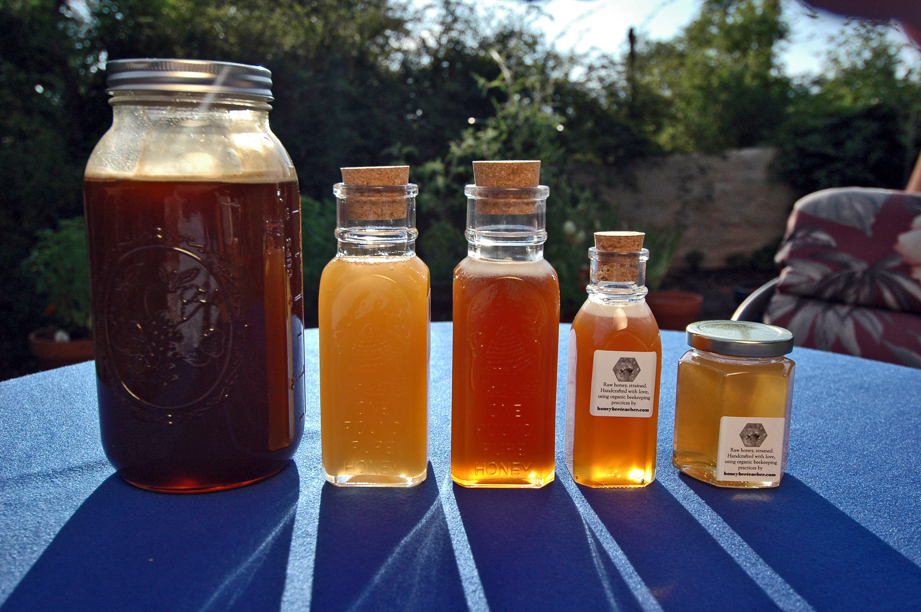 Honey from several different hives, harvested in 2014.